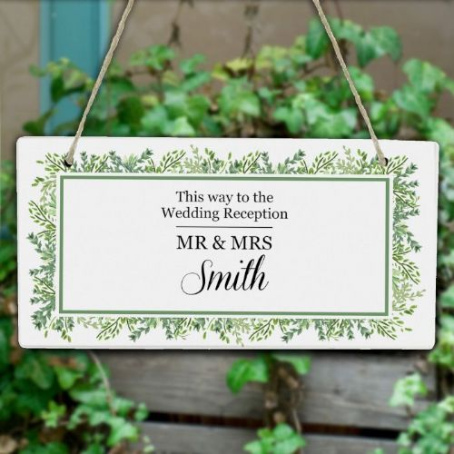 Personalised Botanical Wooden Sign